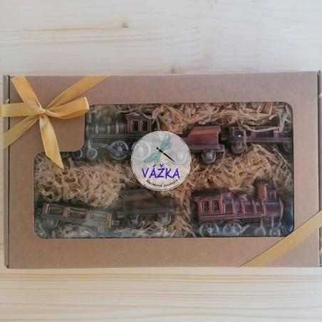 Exkluzívna čokoládová kazeta - VLÁČIKY