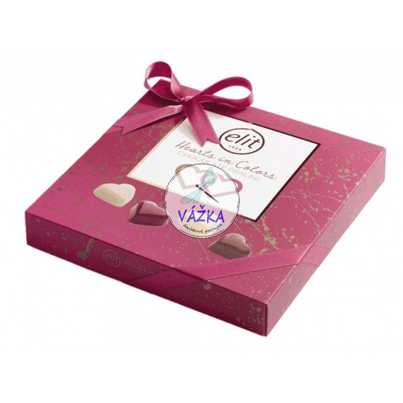 Bonbóny Elit Chocolate Hearts In Colors 160g