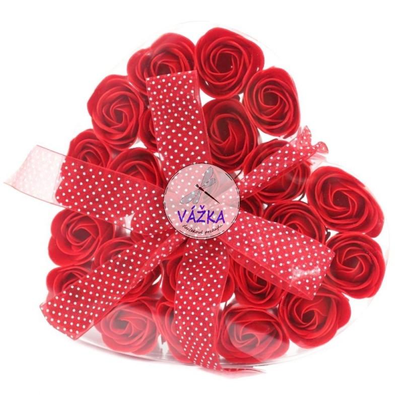 Mydlový kvet Červená ruža srdce