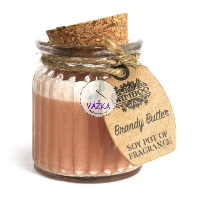 Sójová vonná sviečka - Koňakové maslo