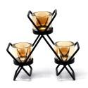 Kovový svietnik na 3 sviečky - trojuholník